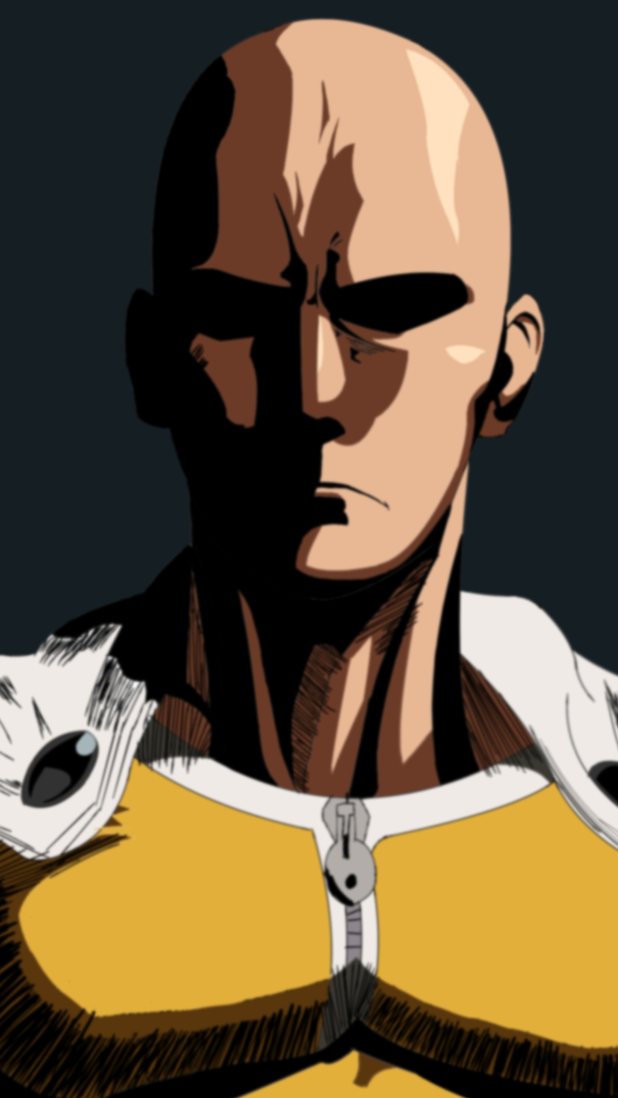 Abstract Girl Face Wallpaper One Punch Man Saitama 2 Wallpaper For Iphone X 8 7 6