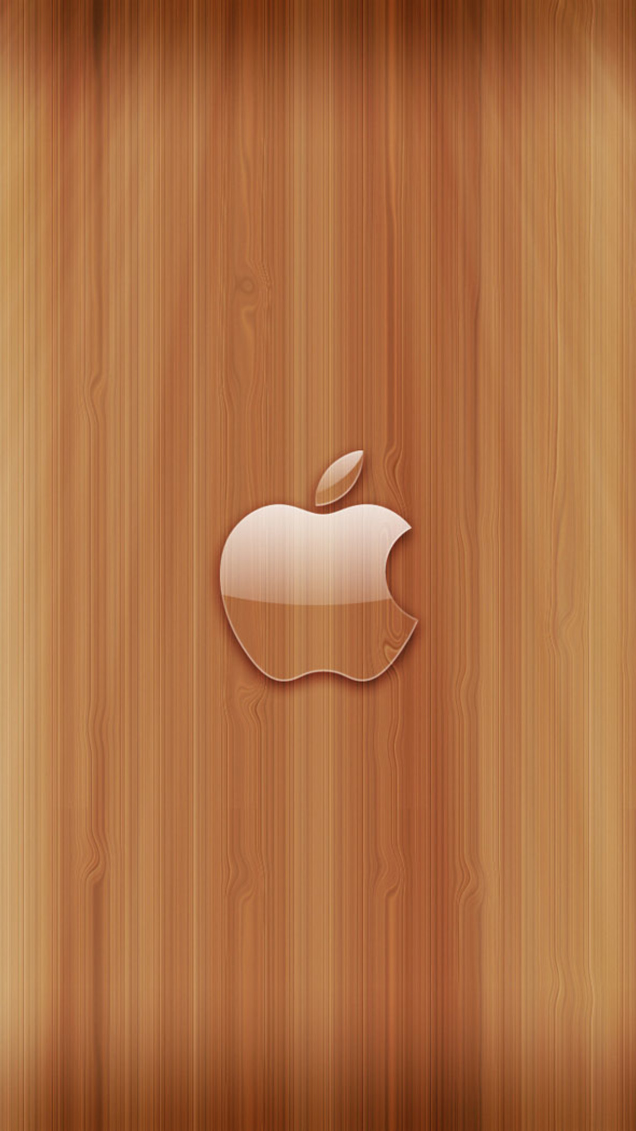 Girl With Balloons Wallpaper Apple Logo Wood Wallpaper For Iphone X 8 7 6 Free