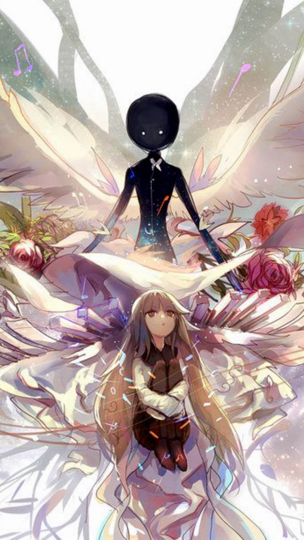Emo Girl Wallpaper Free Download Deemo Angel Wallpaper For Iphone X 8 7 6 Free