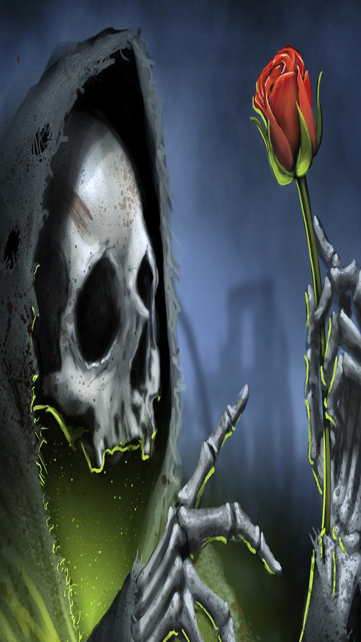 Cool 3d Skull Wallpapers T 234 Te De Mort 3 Wallpaper For Iphone X 8 7 6 Free