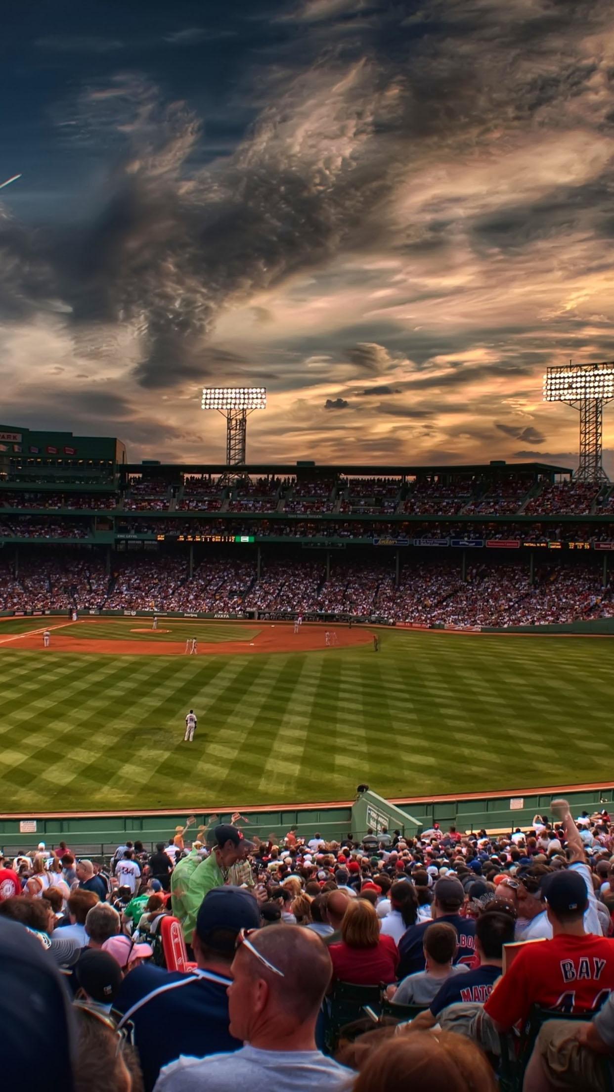 Boston Hd Wallpaper Baseball Stadium Wallpaper For Iphone X 8 7 6 Free
