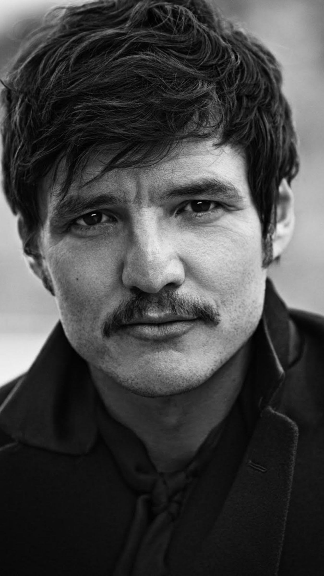 Black N White Girl Wallpaper Pedro Pascal Wallpaper For Iphone X 8 7 6 Free
