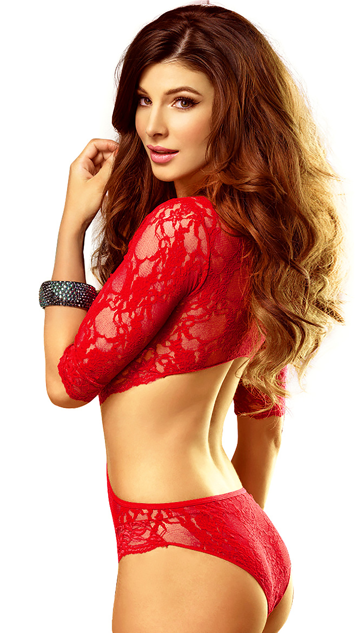 Iphone 7 Plus Christmas Wallpaper Sexy Girl In Red Wallpaper For Iphone X 8 7 6 Free