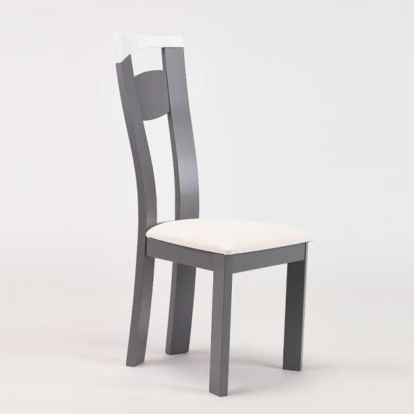 Chaise de salle à manger fabriquée en France en synthétique et hêtre