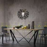 Table design extensible en mtal et bois - Wave | 4-pieds.com