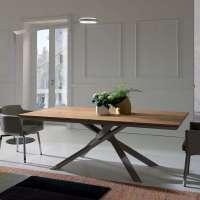 Table design extensible rectangulaire en bois et mtal ...