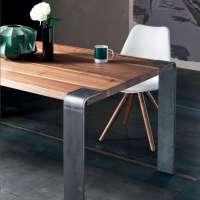 Table design industriel en bois massif et mtal - Siviglia ...
