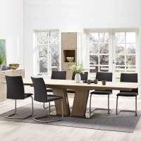 Table en bois moderne extensible avec pied central - SM39 ...