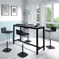 Table haute de cuisine hauteur 110 cm en stratifi et ...