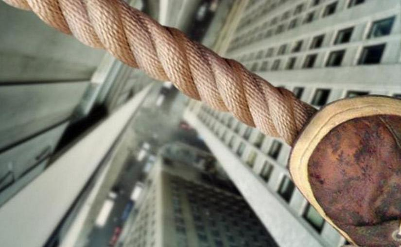 Malabaristas en la cuerda floja