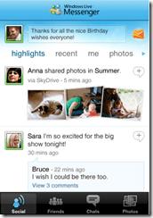 Windows Live Messenger for iPhone