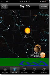 View planets, stars on the iPhone with Planets for iPhone, iPad | 40Tech