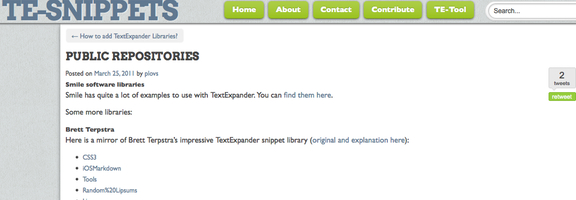 Textexpander snippets repository