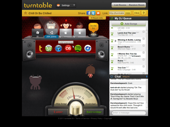 A Turntable Room