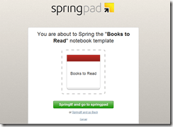 Adding Springpad Notebook Templates | 40Tech