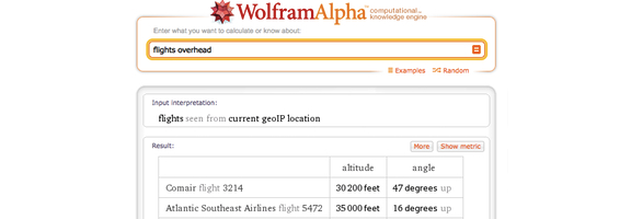 Wolfram alpha fights overhead