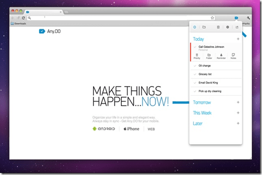 Any.DO Task Manager Chrome Extension