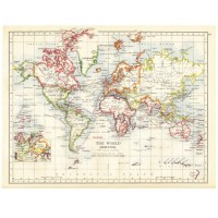 Vintage Map Wallpaper Mural for Kids Room