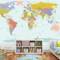 Map Of The World Kids Wall Sticker