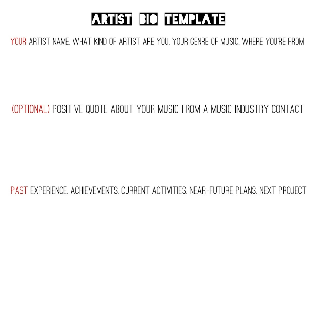 Artist bio template 44faced official website 44faced for Rap artist bio template