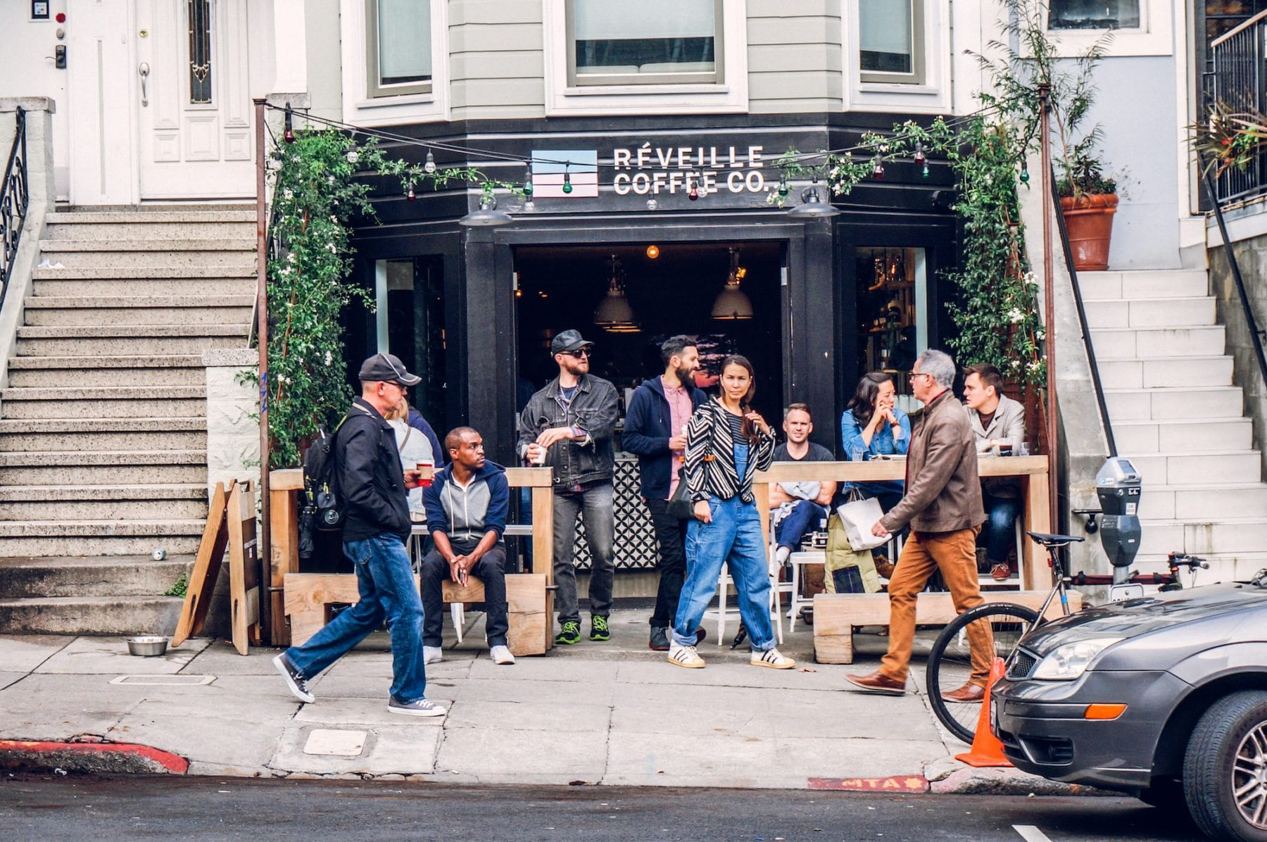 Réveille Coffee's 18th Street Location in the Castro. Photo: Kyle Legg, 49Miles.com.