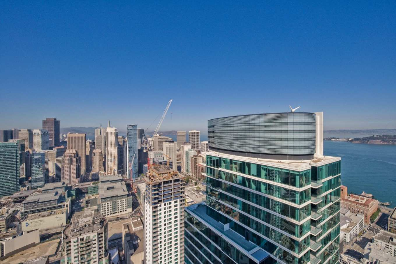 San Francisco skyline from One Rincon Hill penthouse. Photo: JODI Group, Inc. Real Estate.