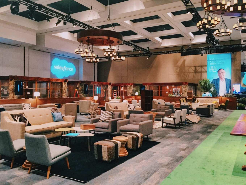 Inside Salesforce's Trailhead-inspired Dreamforce conference. 2016. Photo: Kyle Legg, 49Miles.com.
