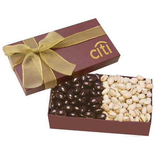 Executive Custom Box Chocolate Almonds Pistachios