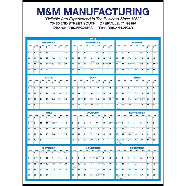 Single Sheet Wall Calendar Business Promotion 4AllPromos