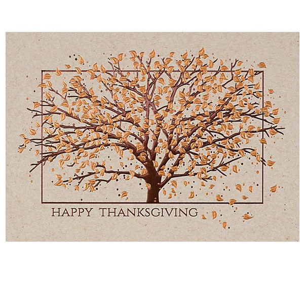 Tree Customized Thanksgiving Card 4AllPromos
