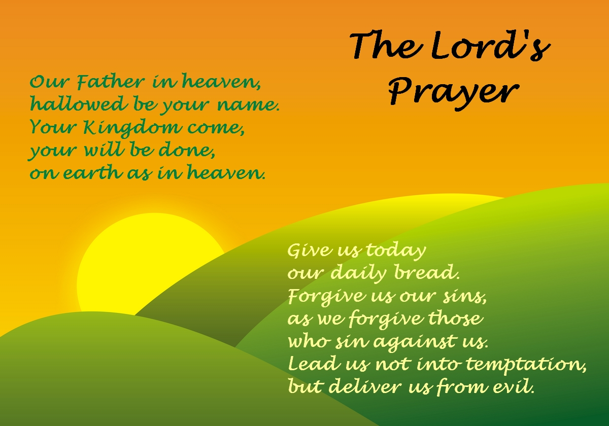 childrens color pages on the lords prayer