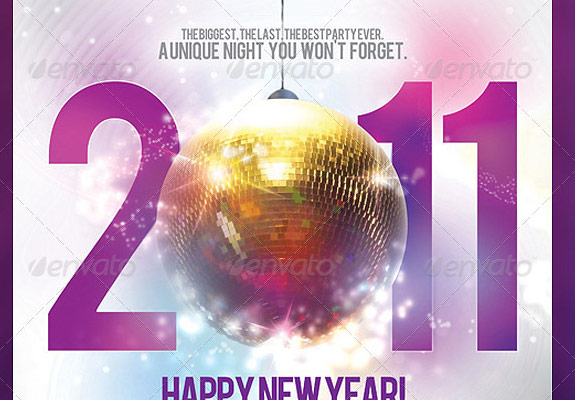 Excellent New Year Party Flyer Templates - Four C Graphic and Printing