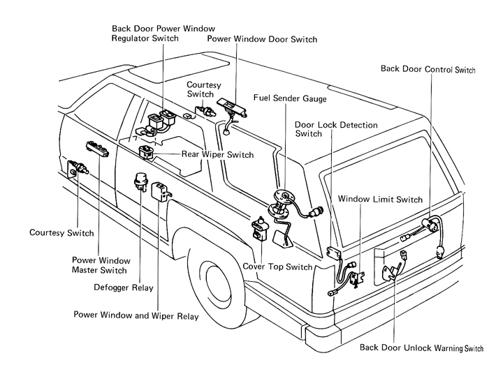 4 door power window wiring diagram
