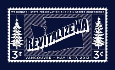 2013 RevitalizeWA Conference logo © courtesy of Washington Trust for Historic Preservation