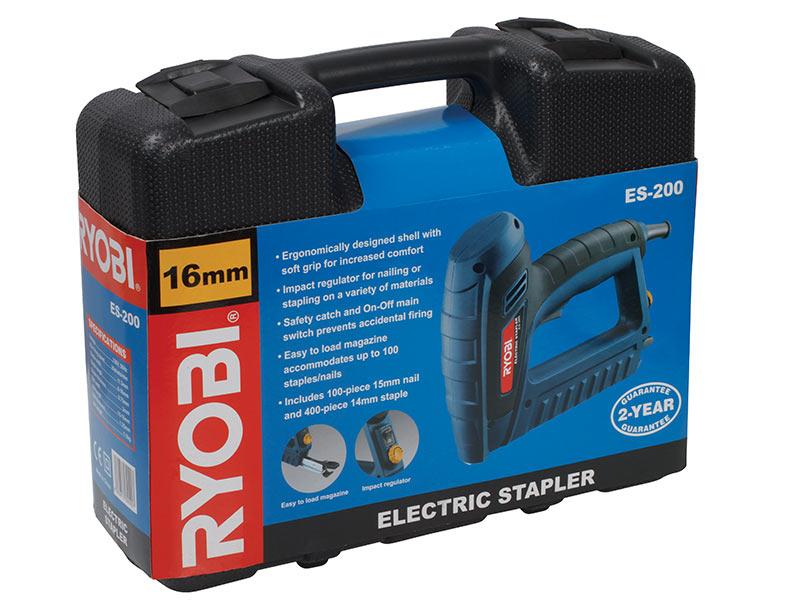 All Products Ryobi 600w 16mm Electric Staple Nail Gun
