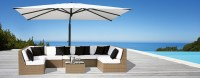 Contemporary Outdoor Furniture   Teak Woven Tables Chairs ...