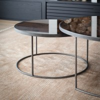 Notre Monde | Round Nesting Coffee Table Bronze | Ethnicraft
