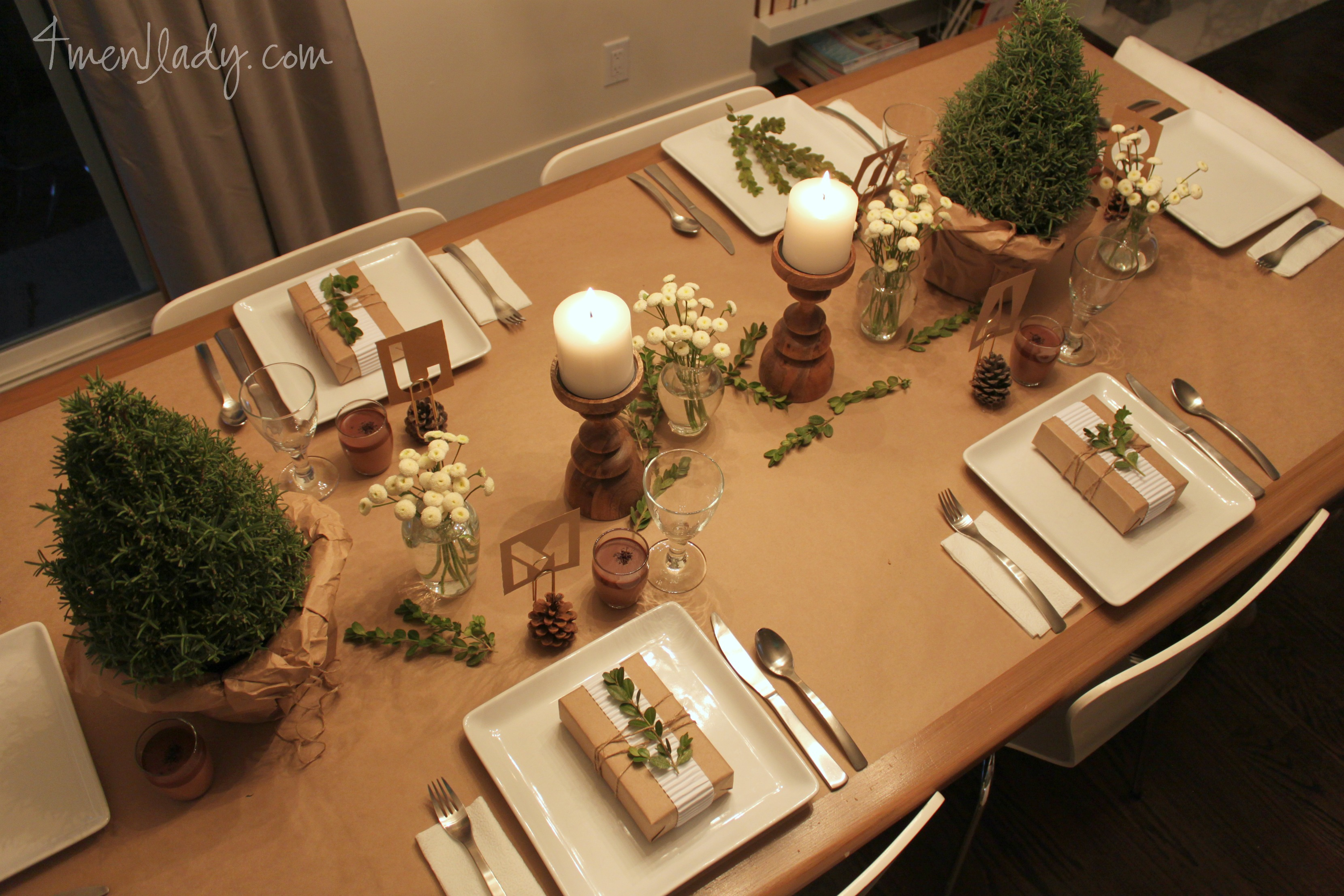 Setting A Holiday Dinner Party Table