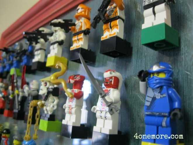 thrifted frame LEGO storage l 4onemore.com