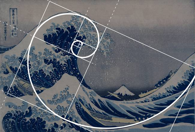 Hokusai-Meets-Fibonacci-Golden-Ratio_art