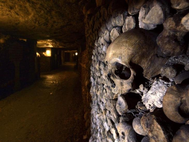The winners will be sharing the catacombs with 6 million bodies. AFP/Getty Images