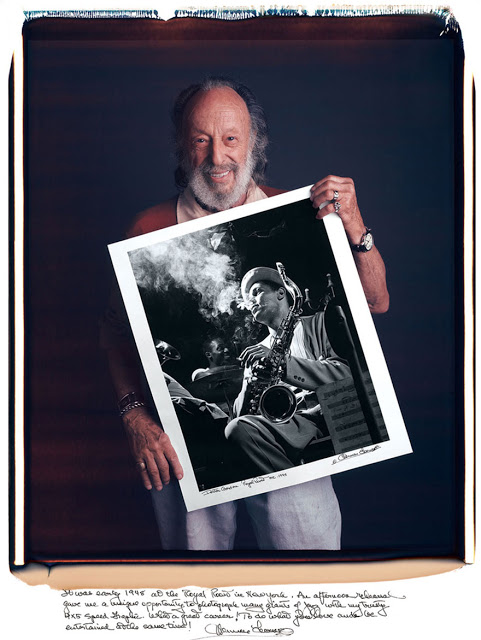 Herman Leonard: It was early 1948 at the Royal Roost in New York. An afternoon rehearsal gave me a unique opportunity to photograph many giants of jazz with my trusty 4×5 Speed Graphic. What a great career! To do what you love and be entertained at the same time!