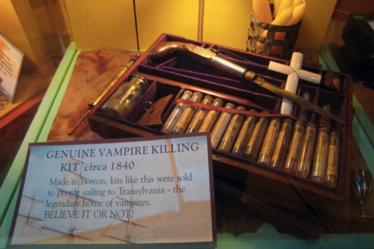Manchester saw himself as a real life Van Helsing, complete with vampire killing kit (credit: Josh Berglund)