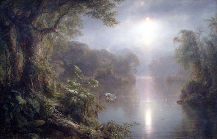 If Cluff's theories are correct, the Hollow Earth could look something like this. (El Río de Luz by Frederic Edwin Church)