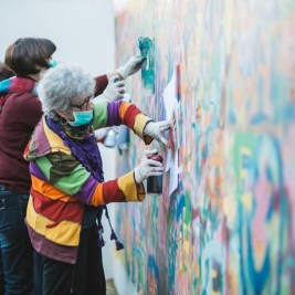 "So you think your grandparents aren't ""street"" enough?  Too set in their ways to get down with the kids? Meet the granny graffiti gang of Lisbon, Portugal, pioneered by an unusual initiative giving graffiti workshops to senior citizens."