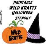 FREE Wild Kratts Pumpkin Carving Halloween Stencils