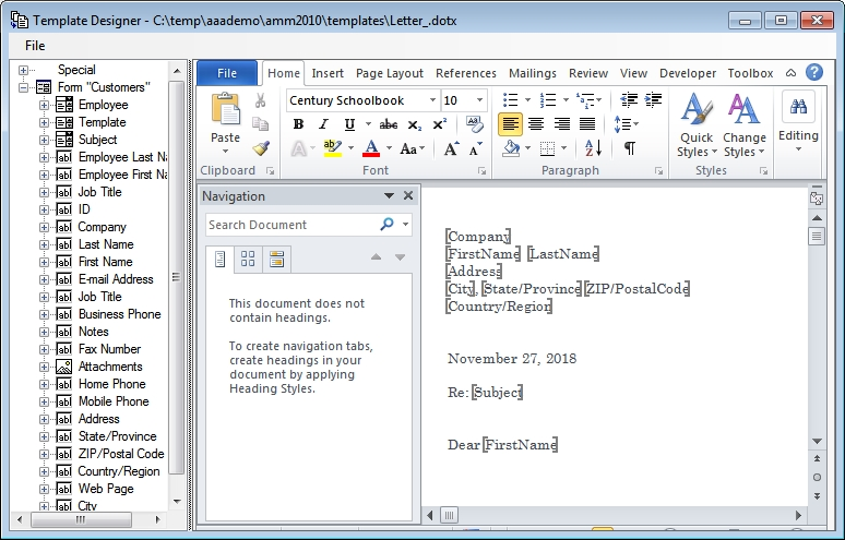 Mail Merge for Microsoft Access Help