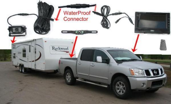Wireless car backup camera color monitor RV Truck Trailer Rear View