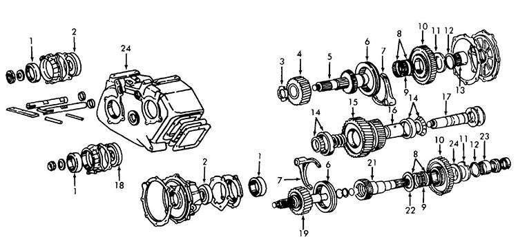 gm th350 transmission diagram