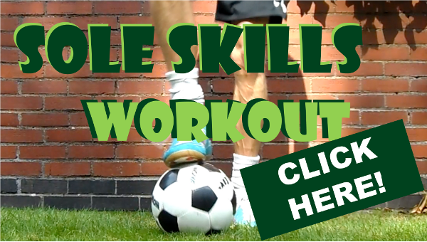 Skills with the sole of the foot for 5-a-side